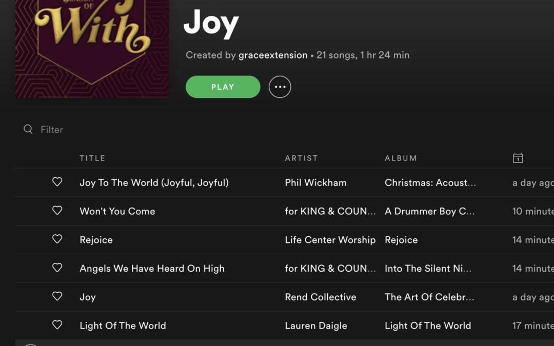 Spotify Playlist – Joy